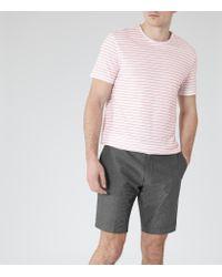 Reiss | Pink King Stripe Short Sleeve T-shirt for Men | Lyst