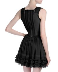 Givenchy - Black Ruffled Corset-top Dress - Lyst