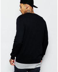 ASOS | Black Sweatshirt With Snake Yoke Print for Men | Lyst