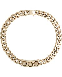 Balenciaga | Metallic Studded Id Plate Necklace-Colorless | Lyst