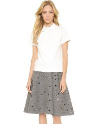 J.W.Anderson - Polo Shirt with French Ruffle Detail Off White - Lyst