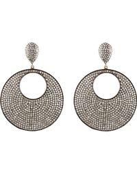 Carole Shashona - Metallic Moon Reflective Earrings - Lyst