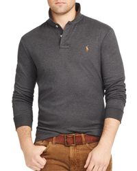 Ralph Lauren | Gray Polo Long-sleeved Pima Soft-touch Polo Shirt for Men | Lyst