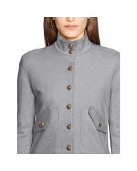 Ralph Lauren | Gray French Terry Long Sleeve Top | Lyst