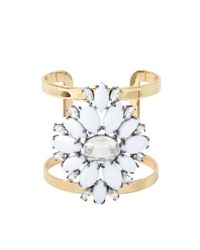Juicy Couture | Metallic Flower Brilliant Blooms Cuff | Lyst