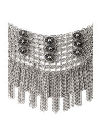 Forever 21 | Metallic Fringed Bib Necklace You've Been Added To The Waitlist | Lyst
