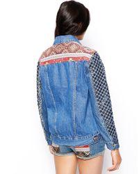 ASOS - Multicolor Boyfriend Jacket with Embellished Sleeve - Lyst