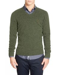 Original Penguin | Green V-neck Lambswool Sweater for Men | Lyst