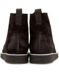 Rag & Bone - Black Suede Elliott Boots for Men - Lyst