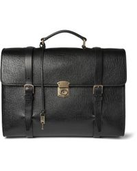 Dolce & Gabbana | Black Convertible Textured-Leather Briefcase for Men | Lyst
