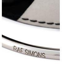 Raf Simons - Black Leather And Metal Bracelet for Men - Lyst
