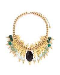 Ela Stone - Metallic Michelle Plastron Necklace - Lyst
