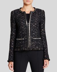 ESCADA - Black Dondi Zip-chain Jacket - Lyst