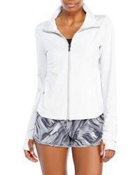 Under Armour - White Grey Studiolux Lite Essential Jacket - Lyst