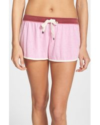 Jane & Bleecker New York | Pink Washed Jersey Shorts | Lyst