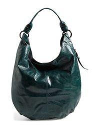 Hobo - Green 'Gardner' Leather Shoulder Bag - Lyst