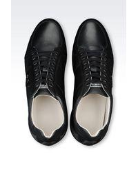 Emporio Armani - Black Sneakers for Men - Lyst