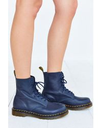 Dr. Martens | Blue Pascal 8-eye Boot | Lyst