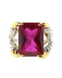 Tessa Metcalfe - Purple Claws Of Engagement Ring Ruby - Lyst