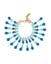 Etro | Blue - Beaded Gold-plated Swarovski Crystal Bracelet - Turquoise | Lyst