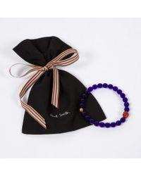 Paul Smith | Purple Men's Violet Beaded Skull Bracelet for Men | Lyst