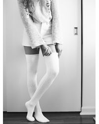 Free People | White Womens Montana Thigh High Sock | Lyst