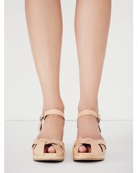 Free People | Natural Swedish Hasbeens Womens Kingslee Clog | Lyst