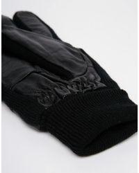 Minimum - Black Leather Gloves - Lyst