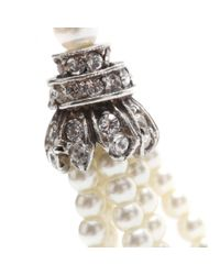 Ben-Amun Metallic Swarovski Crystalembellished Fauxpearl Tassel Earrings