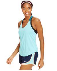 Nike | Blue Mesh-strap Elastika Tank | Lyst