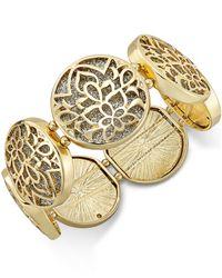 Style & Co. | Metallic Glitter Openwork Metal Bracelet | Lyst