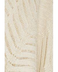 Isabel Marant - Natural Open-Knit Linen-Blend Sweater - Lyst