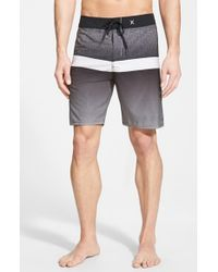 Hurley | Black 'phantom Block Flight' Board Shorts for Men | Lyst