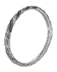 John Hardy | Black Classic Chain Hinged Lava Bangle | Lyst