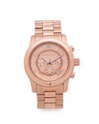 Michael Kors - Pink Oversized Watch - Rose Gold - Lyst