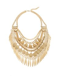 Cara | Metallic Layered Collar Necklace | Lyst