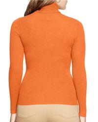 Lauren by Ralph Lauren | Orange Plus Turtleneck Sweater | Lyst