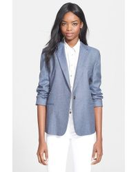 Equipment | Blue 'jay' Blazer | Lyst