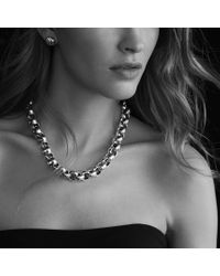 David Yurman - Metallic Round Large Link Necklace - Lyst