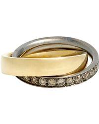 Roberto Marroni - Metallic Double Ring - Lyst