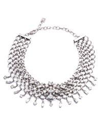 DANNIJO   Metallic Marianna Jet Choker Necklace   Lyst