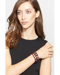 St. John | Metallic Crystal Bracelet - Malbec Clad/ Burgundy/ Jet | Lyst