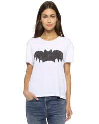 Zoe Karssen | White Bat Tee - Grey Heather | Lyst