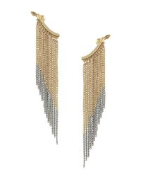 BCBGeneration | Metallic Hey Hombre Fringe Cuff Earrings | Lyst