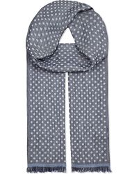 Paul Smith - Blue Reverse Spot Scarf for Men - Lyst