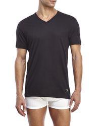 Lucky Brand - Multicolor Black Label 3-Pack V-Neck Tees for Men - Lyst