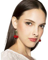 Pixie Market - Red Cherry Bomb Earrings - Lyst