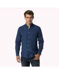 Tommy Hilfiger | Blue Woven Cotton Shirt for Men | Lyst