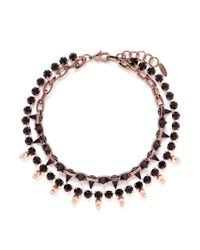 Joomi Lim - Black Skull Crystal Bead Necklace - Lyst