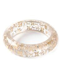 Louis Vuitton | Metallic Gold Logo Bracelet | Lyst